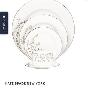 Kate Spade Gardner Street Platinum Dishes